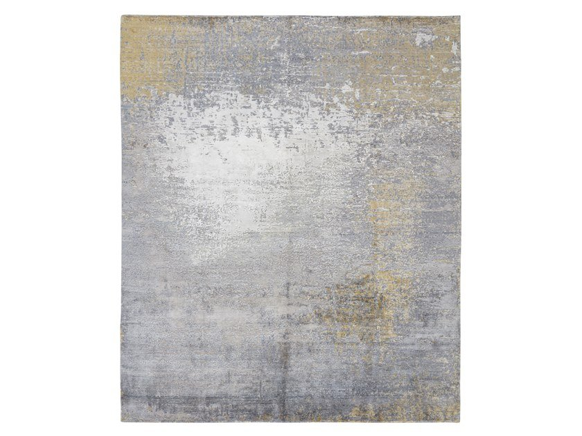 Tappeto fatto a mano su misura RELINED 10102B GOLD by Thibault Van Renne