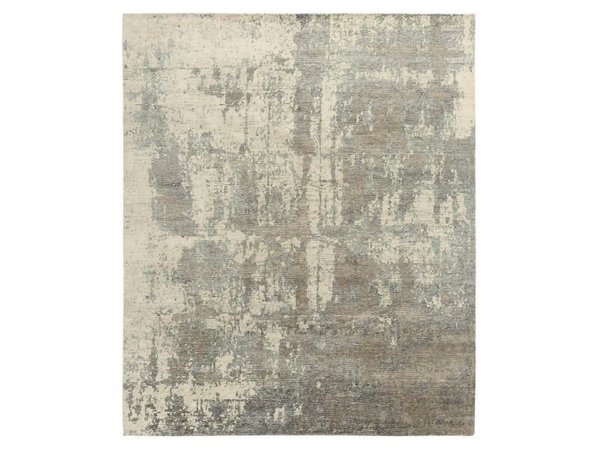 Tappeto fatto a mano su misura RELINED 9982B IVORY GREY by Thibault Van Renne