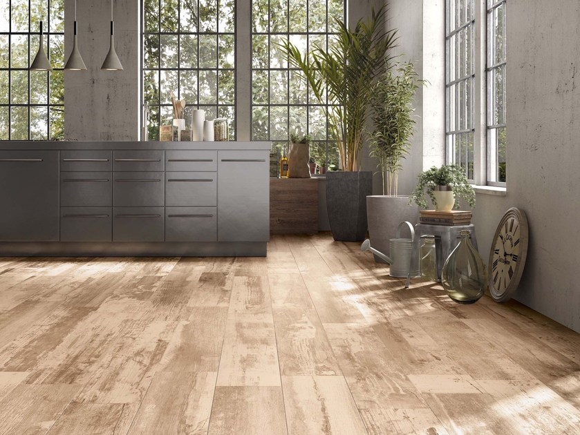 Porcelain stoneware wall/floor tiles with wood effect REMAKE by Supergres