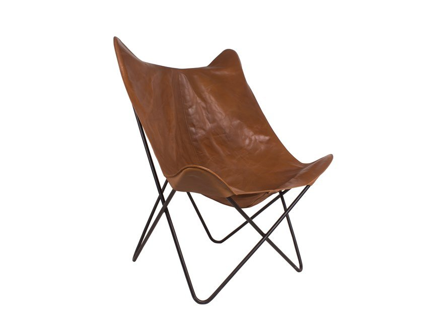 Garden leather easy chair REMIX | Leather easy chair by Il Giardino di Legno