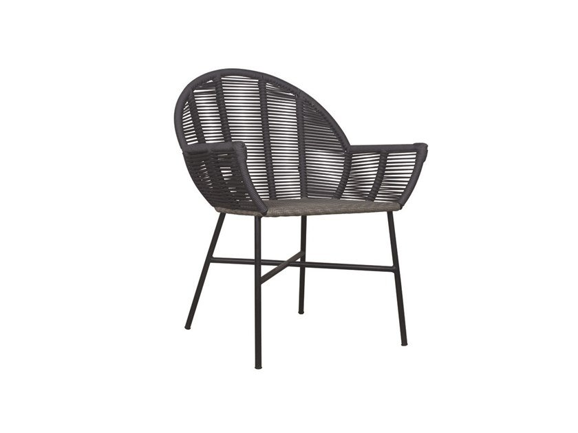 Garden rattan easy chair with armrests REMIX | Rattan easy chair by Il Giardino di Legno
