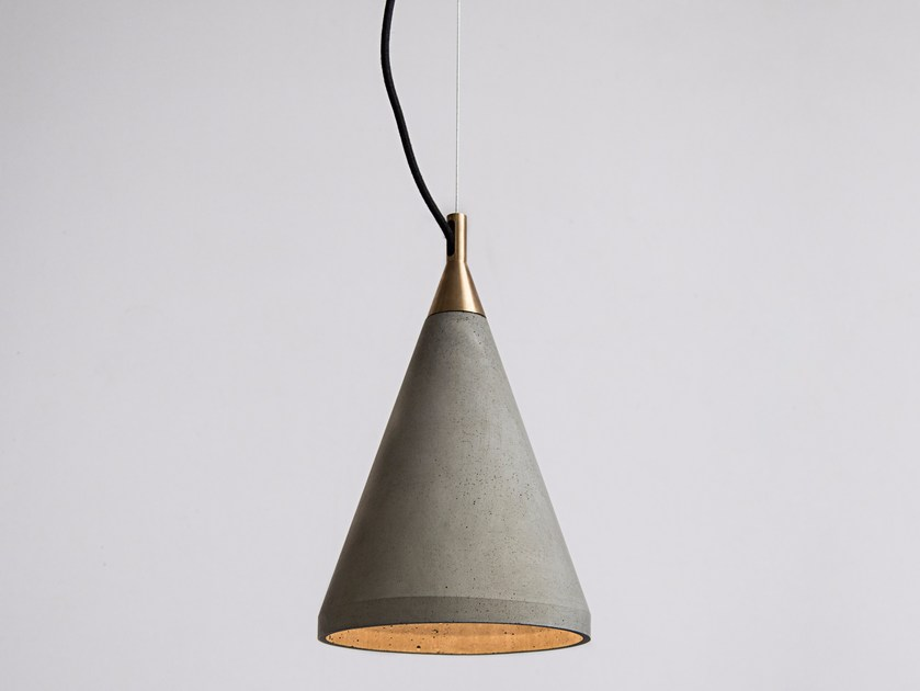 LED concrete pendant lamp REN 200 by Bentu Design