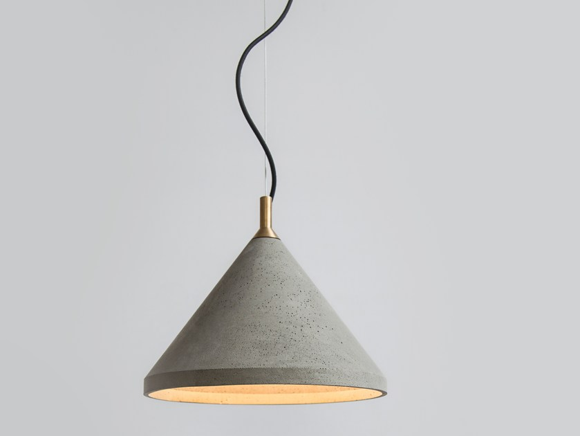 LED concrete pendant lamp REN 300 by Bentu Design
