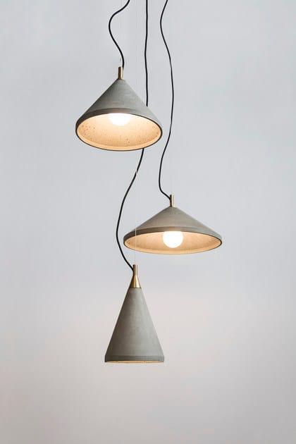 Lampada A 300 Bentu Led Ren Calcestruzzo Sospensione Design In tQxshrdCB