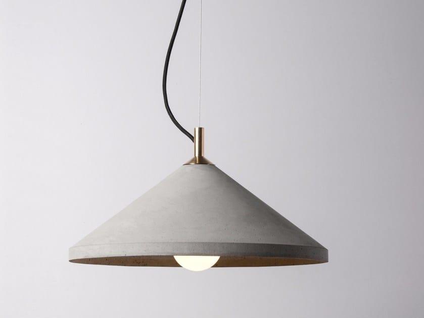 LED concrete pendant lamp REN 400 by Bentu Design