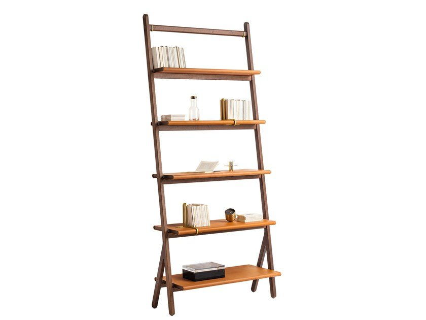 Solid wood bookcase REN | Bookcase by Poltrona Frau