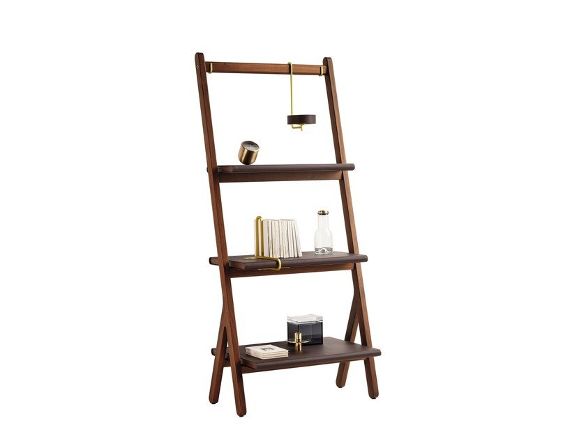 Solid wood bookcase REN   Bookcase by Poltrona Frau