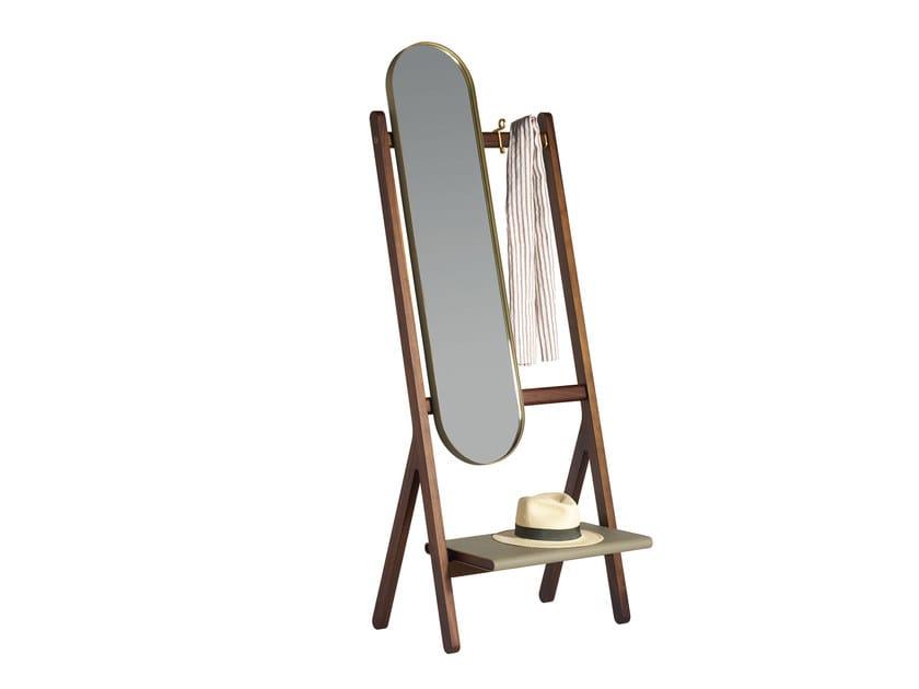 Freestanding oval mirror REN | Freestanding mirror by Poltrona Frau