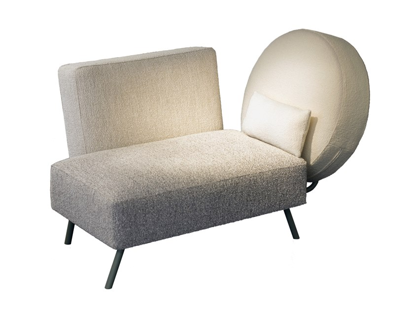 Upholstered fabric day bed RENDEZ-VOUS À HELSINKI by extranorm