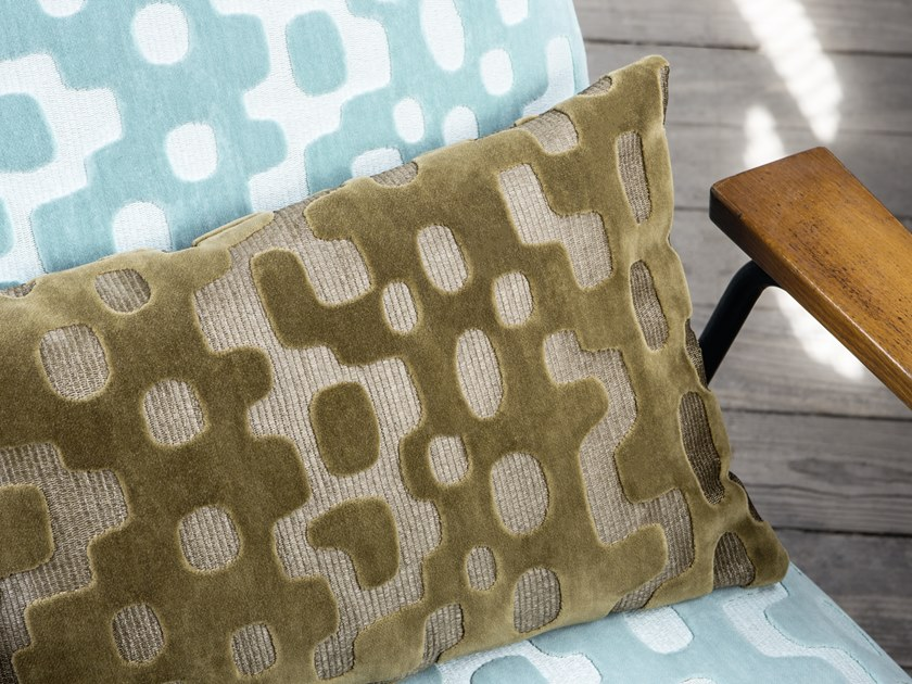 Jacquard velvet fabric with graphic pattern RENDEZ-VOUS - CAYO COCO by Élitis