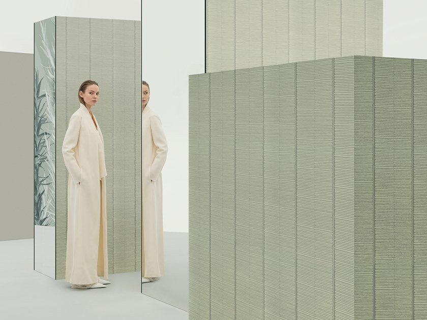 Relief wallpaper RENN by Wall&decò