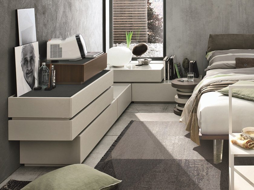 Sectional chest of drawers with integrated handles REPLAY | Sectional chest of drawers by Gruppo Tomasella