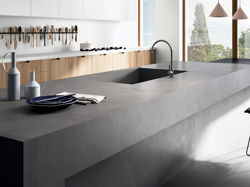 Porcelain stoneware kitchen worktop with resin effect RES ART by CERAMICA FONDOVALLE