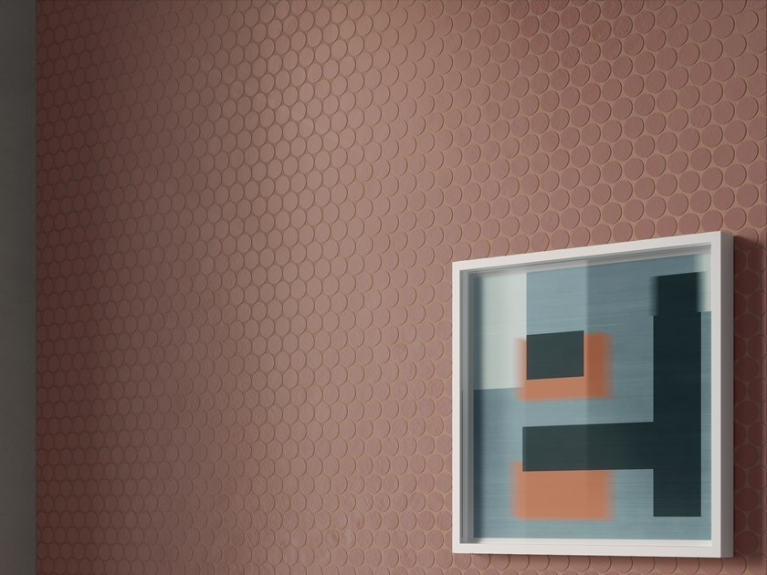 Porcelain stoneware 3D Wall Cladding with concrete effect RES ART MOSAICO BALL by CERAMICA FONDOVALLE