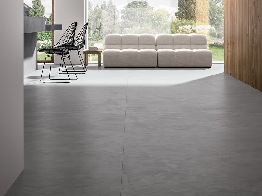 Porcelain stoneware wall/floor tiles with concrete effect RES ART POWDER by CERAMICA FONDOVALLE