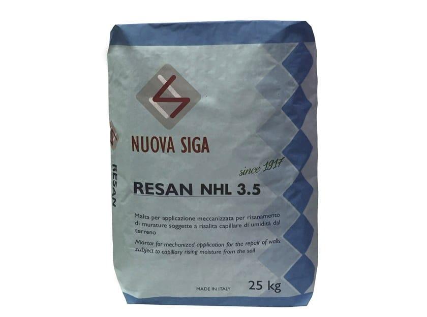 Renovating and de-humidifying additive and plaster RESAN NHL 3.5 by Nuova Siga