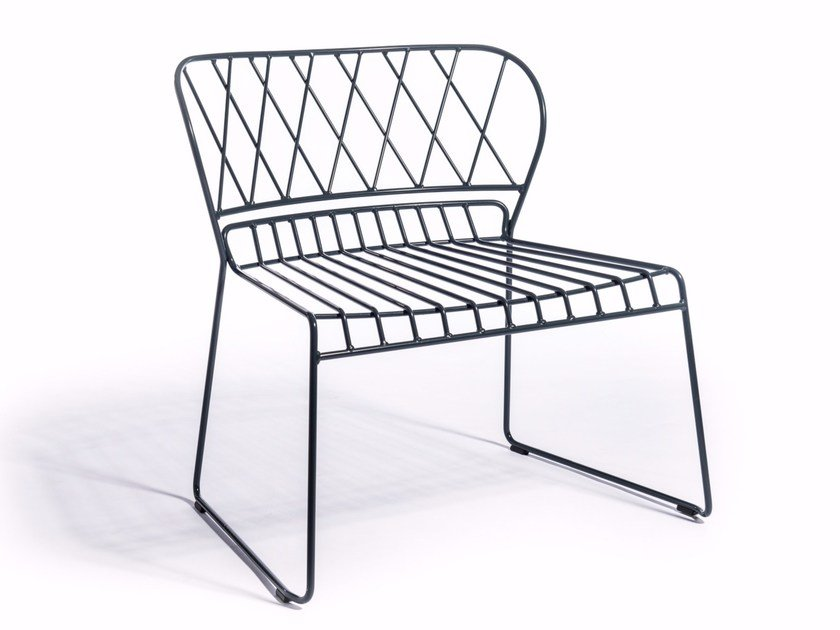 Steel garden armchair RESÖ | Garden armchair by Skargaarden