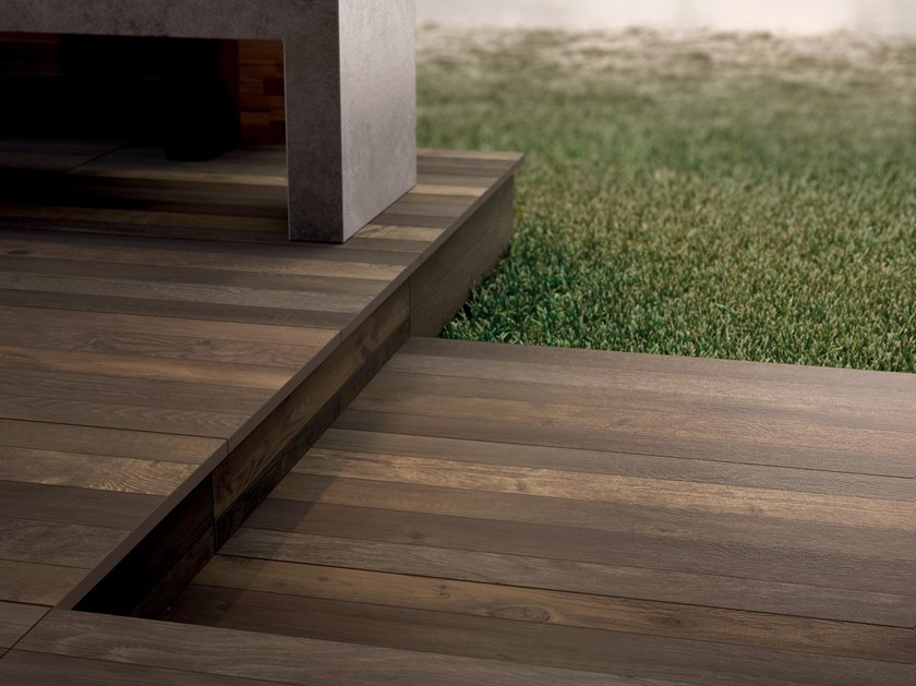 Porcelain stoneware wall/floor tiles with wood effect RESTYLE BROWN by Marca Corona