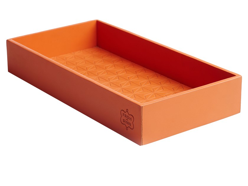 Rectangular leather tray 348 | Tray by FROHSINN