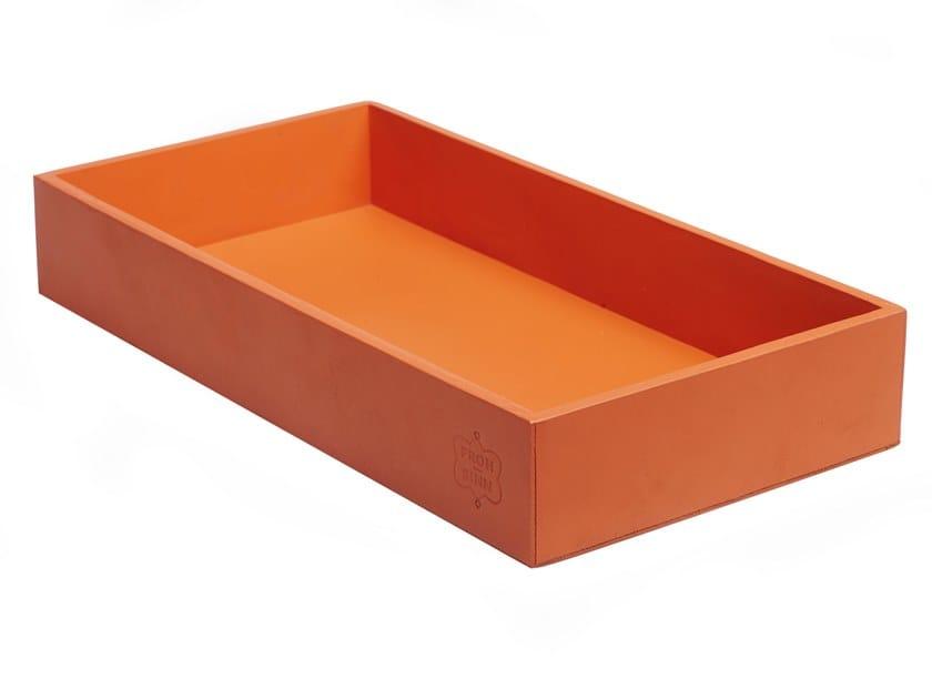 Rectangular leather tray 348   Rectangular tray by FROHSINN