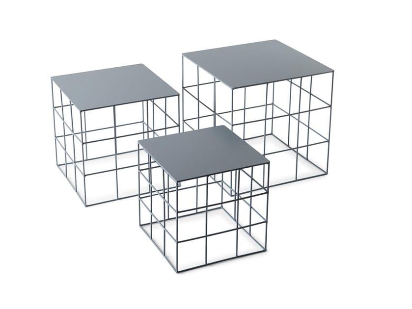 Low square coffee table RETON | Square coffee table by Atipico