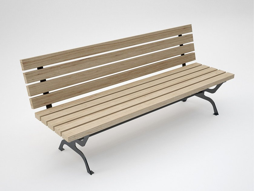 Wooden Bench with back RETRÒ | Wooden Bench by CITYSì
