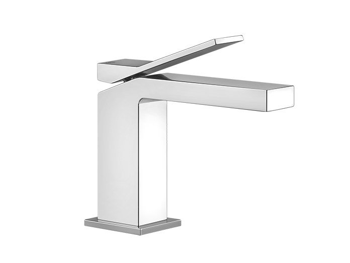 Countertop metal washbasin mixer without waste RETTANGOLO K | Countertop washbasin mixer by Gessi
