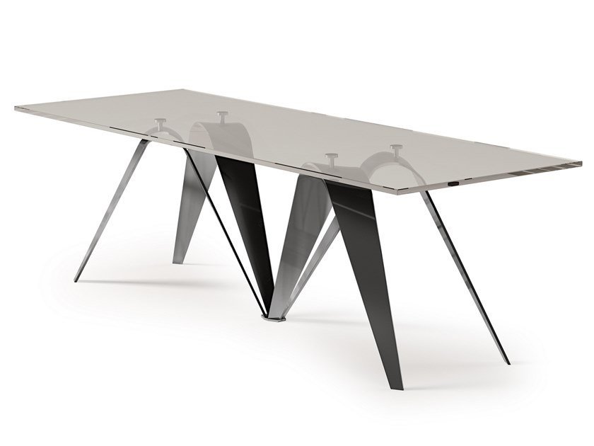 Rectangular crystal table REVERSE | Crystal table by Bizzotto