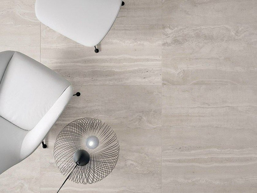 Porcelain stoneware flooring with stone effect REVERSO by Ceramiche Coem