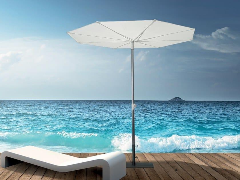 Round powder coated aluminium Garden umbrella REVO by Scolaro Parasol