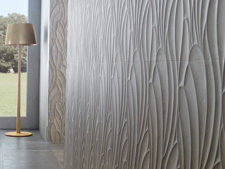 3D Wall Cladding with concrete effect SUEDE TAUPE by Venis