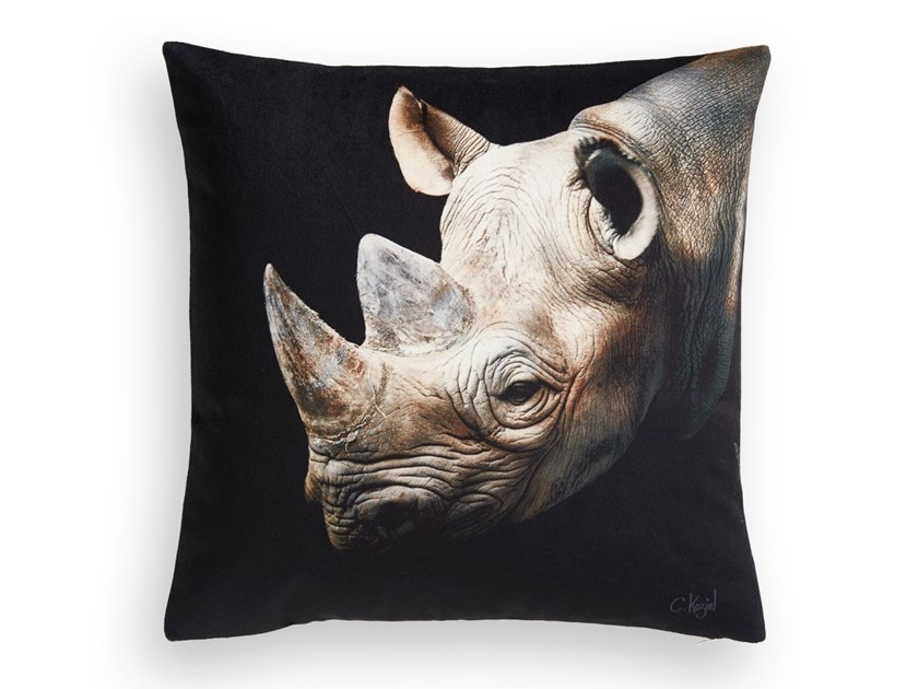 Square cushion RHINOCEROS by Koziel