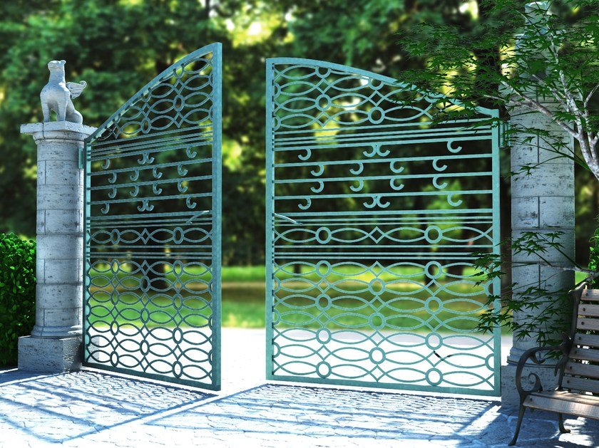 Swing Motorized iron gate RI-CLASSICO 2677 by Fabbridea