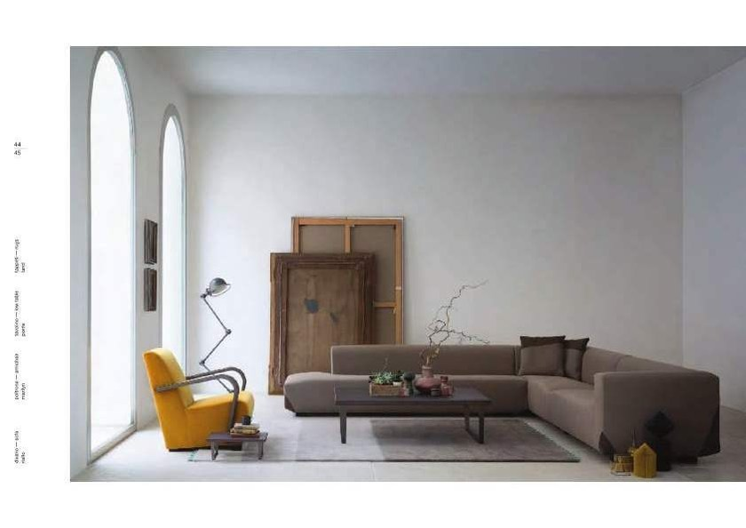 Sectional upholstered sofa with removable cover RIALTO by Bodema