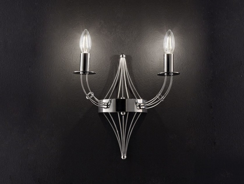 Direct light metal wall light RIALTO L 32 | Wall light by Metal Lux