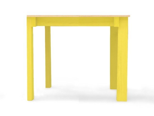 Lacquered wooden contract table RIB BISTO by Moca