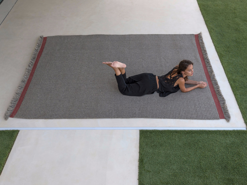 Rectangular polypropylene outdoor rugs RIBS by Talenti