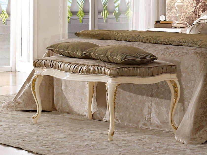 Upholstered velvet bench RICASOLI   Bench by A.R. Arredamenti