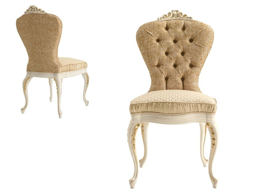 Tufted fabric chair RICASOLI | Chair by A.R. Arredamenti