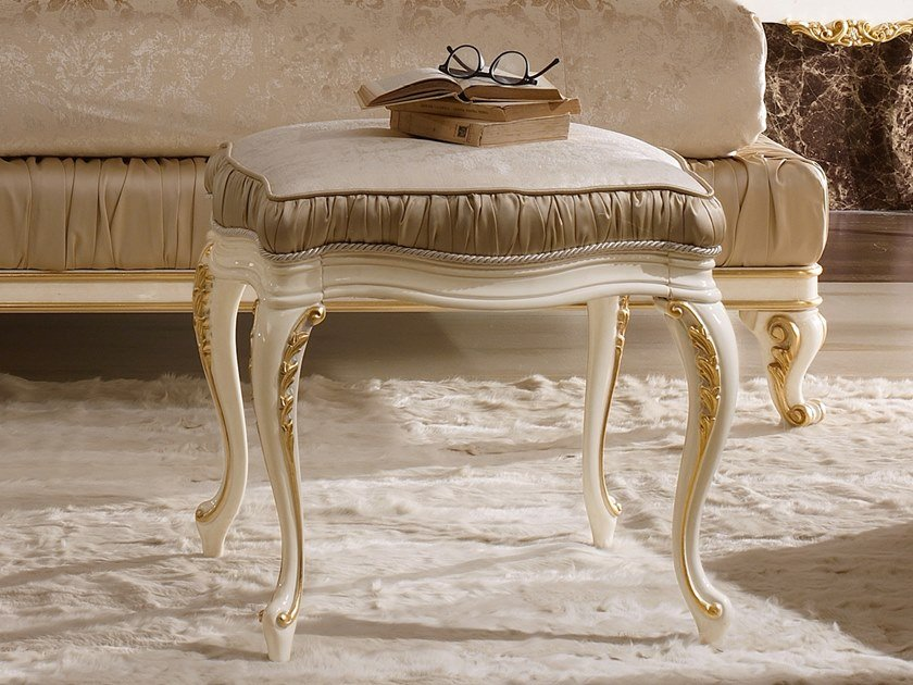 Upholstered fabric stool RICASOLI | Stool by A.R. Arredamenti