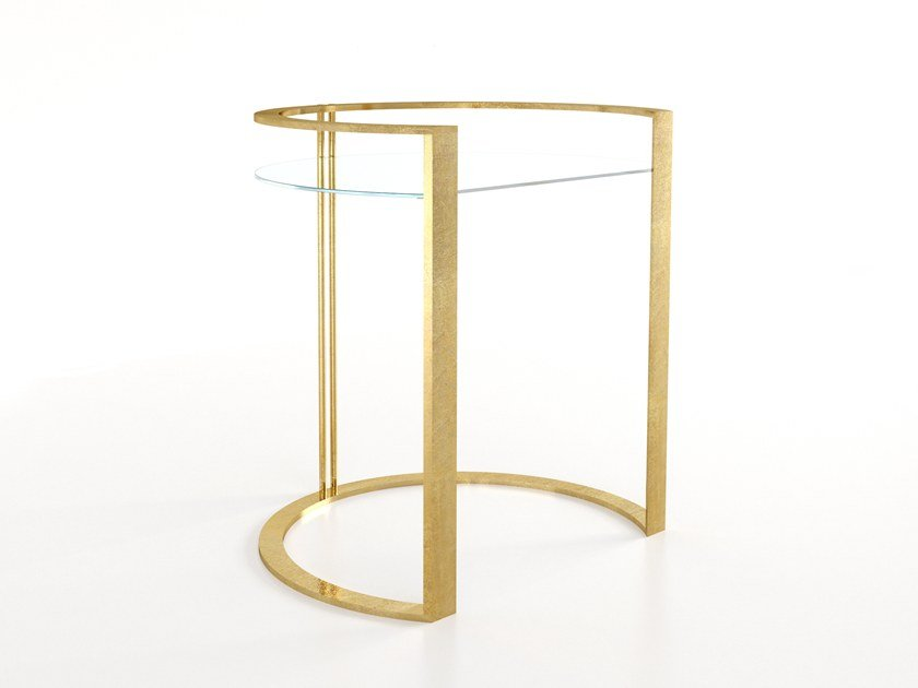 Glass and iron coffee table / bedside table RICHARD by Barel