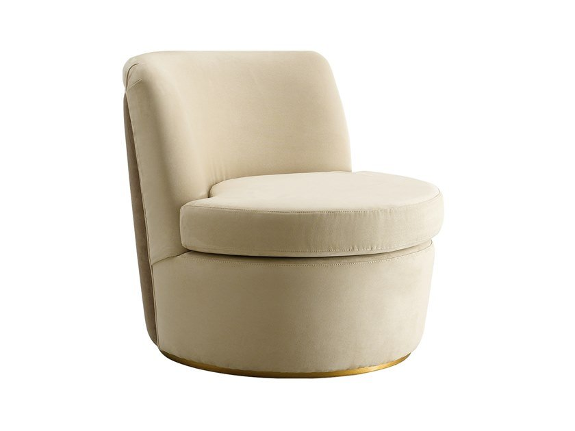 Upholstered leather armchair RICHMOND UPON THAMES | Armchair by Barnini Oseo