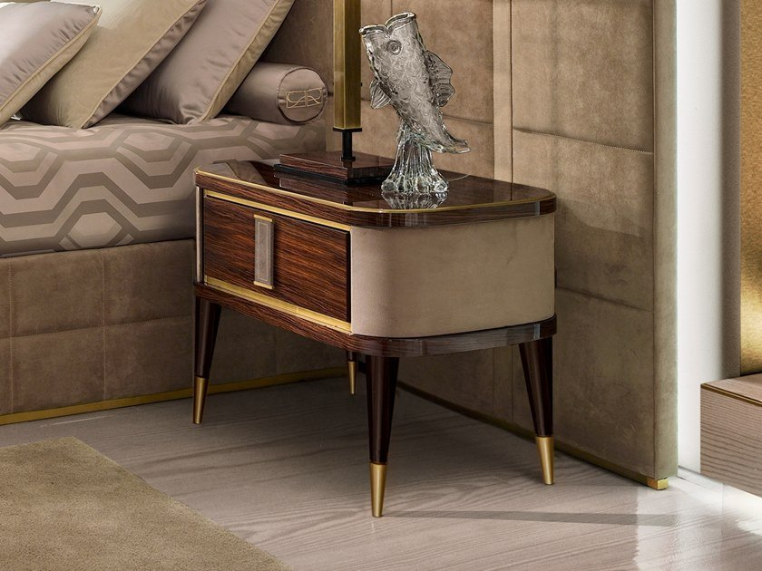 Rectangular bedside table with drawers RICHMOND   Wood-product bedside table by Barnini Oseo