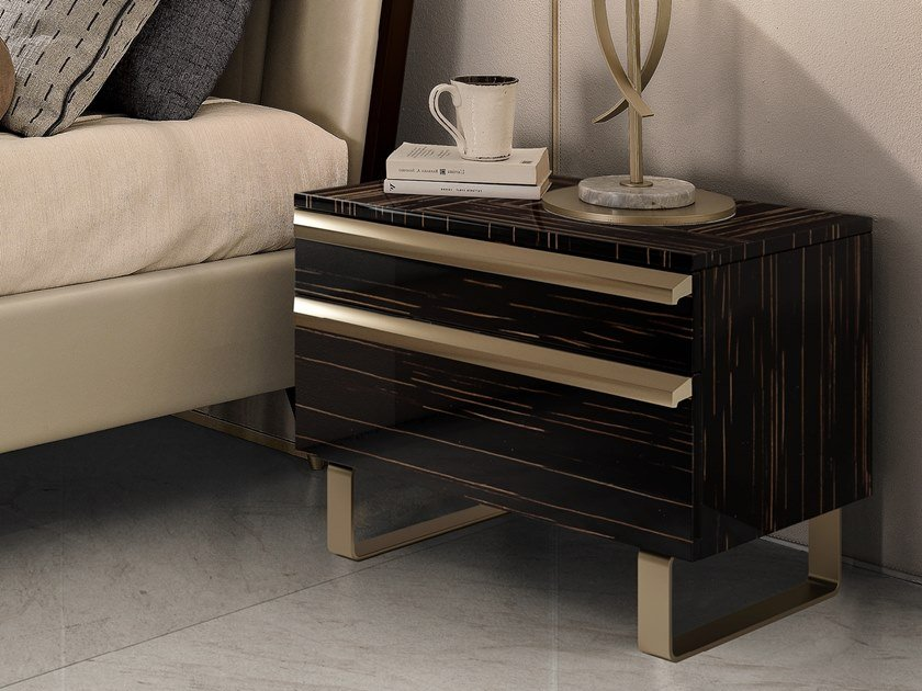 Rectangular bedside table with drawers RICHMOND | Bedside table by Barnini Oseo
