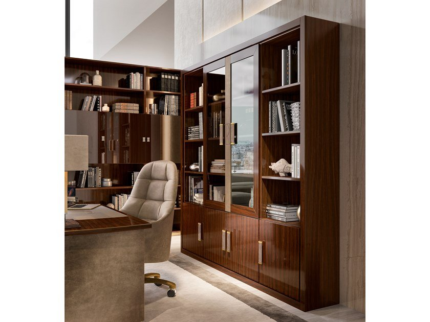 Open wooden bookcase RICHMOND | Bookcase by Barnini Oseo