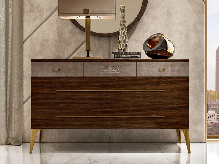 Multi-layer wood chest of drawers RICHMOND | Multi-layer wood chest of drawers by Barnini Oseo