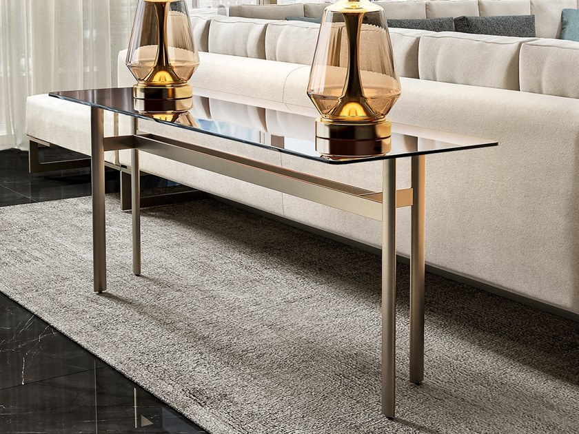 Rectangular glass console table RICHMOND | Glass console table by Barnini Oseo