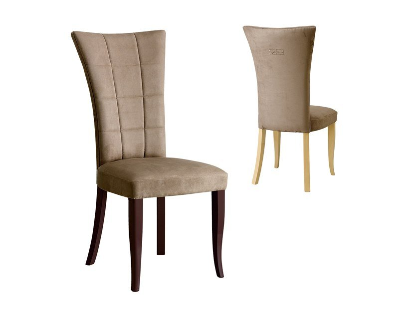Upholstered high-back fabric chair RICHMOND | High-back chair by Barnini Oseo