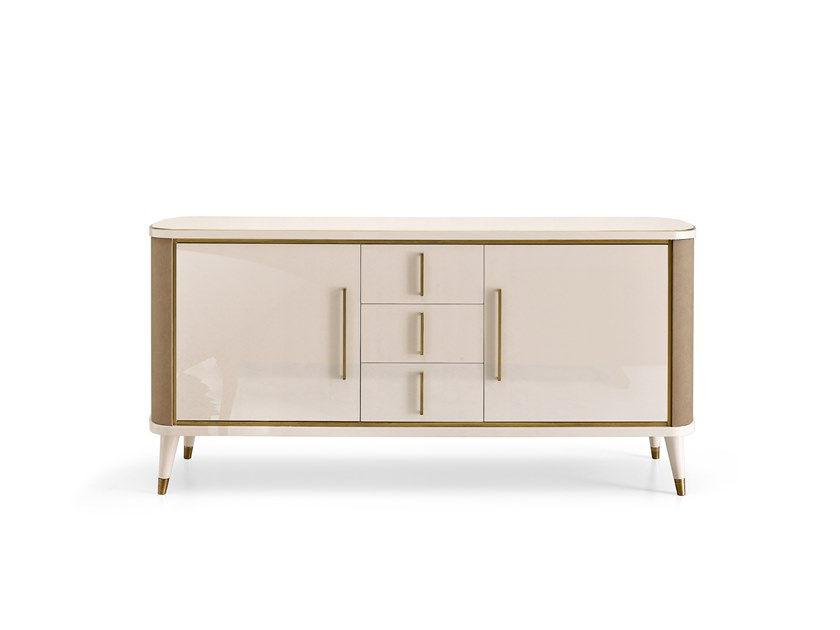 Lacquered sideboard with doors with drawers RICHMOND | Lacquered sideboard by Barnini Oseo
