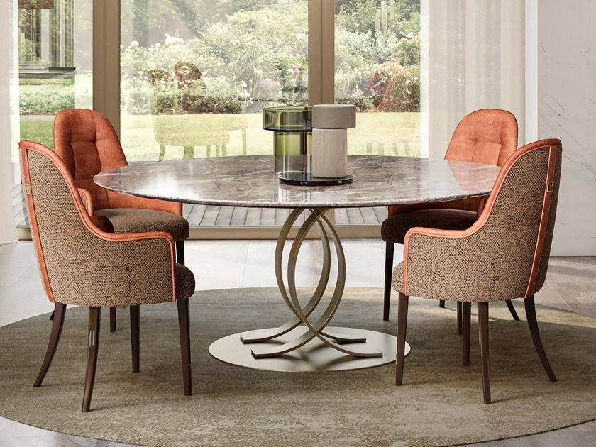 Round marble table RICHMOND UPON THAMES | Natural stone table by Barnini Oseo
